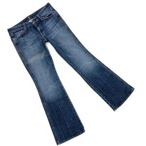 7 for All Mankind A pocket Distressed Flare Jeans